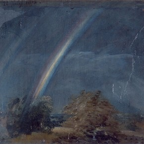 'Landscape with a double rainbow' by John Constable RA, 1812, Museum no. 328-1888