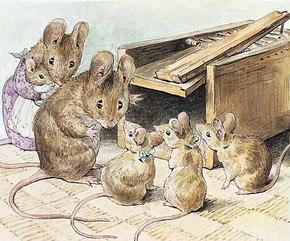 Beatrix Potter,Original illustration for The Tale of Two Bad Mice  Frederick Warne