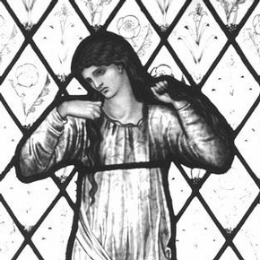 'Elaine', panel, Edward Coley Burne-Jones, 1870. Museum no. C.321-1927. Photography by V