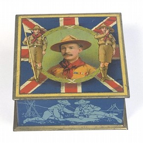Biscuit tin, 1911. Museum no. M.81-1983