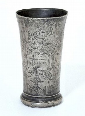 Communion Beaker with Scenes from the Life of Christ, Netherlands, about 1740. Museum no. M.147-1930