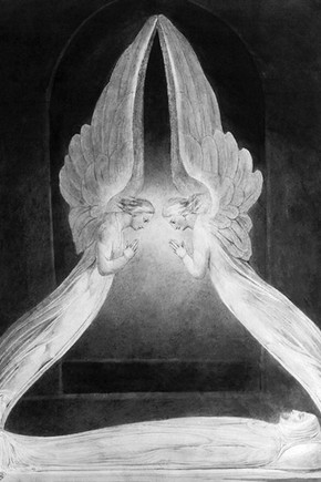 William Blake, Christ in the Sepulchre, Guarded by Angels, 1805. Museum no. P.6-1972