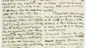 Pages of a letter from William Morris dated 20 Dec 1886 recommending the purchase of a tapestry depicting the story of the Trojan War (museum number 6-1887). Archive reference MA/1/D1995