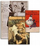 Examples of periodicals held by the Theatre collections