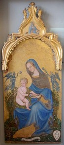 Peregrinus,The Virgin and Child with Angels, after conservation. Museum no. 6559A-1860