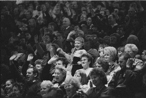 Pantomime audience, Graham Brandon, 1994