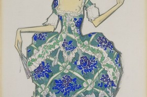 Design for 'Felicita' in 'The Good Humoured Ladies', Leon Bakst, 1917. Museum no. S.341 -1988