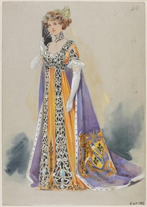Costume design for 'The King of Cadonia' designed by Karl, 1908. Museum no. S.843 - 1982