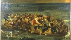 Ferdinand Victor Eugène Delacriox, The Shipwreck of Don Juan, About 1840, Oil on canvas.