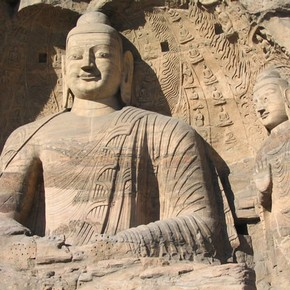 Yungang Cave statue, China. Photograph by Felix Andrews