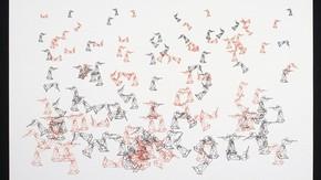 Random War, Lithograph, Charles Csuri, 1967. Museum no. Circ.773-1969