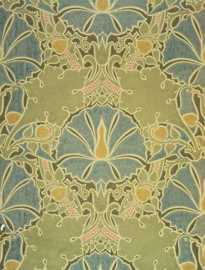 'The Saladin', wallpaper by Charles F.A. Voysey, about 1897. Museum no. CIRC.261-1953, © Victoria & Albert Museum, London