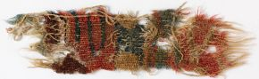 Tapestry weave fragment, Mazartoghrak, China, 700-1000 AD. Museum no. LOAN:STEIN.318 (M.T.81), © Victoria and Albert Museum, London. On loan from the Government of India and the Archaeological Survey of India