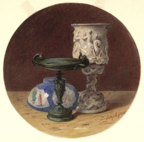 Benjamin Richard Green, 'Still Life with Vases', about 1830-1876. Museum no. P.3-1920, © Victoria and Albert Museum, London
