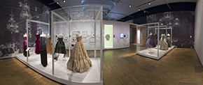 Glamour of Italian Fashion Exhibition, first room, Victoria and Albert Museum. Victoria and Albert Museum 2013