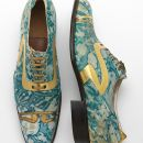 Coxton Shoe Co. Ltd (active in early 20th century) Men's shoes Gilded and marbled leather Northamptonshire, England, c.1925 V&A: T.52:1+2—1996. © Victoria and Albert Museum, London