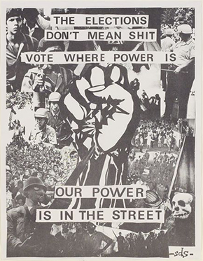 Students for a Democratic Society protest poster, 1968, USA, E.308-2004, Victoria and Albert Museum, London.