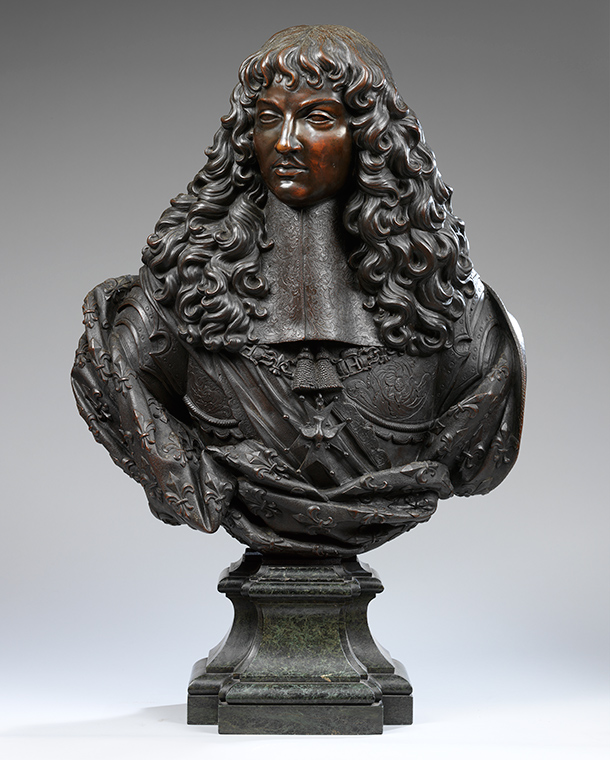 Bust of  Louis XIV, about 1660, France (Paris), bronze. Museum no. A.54-1951, ©  Victoria and Albert Museum, London