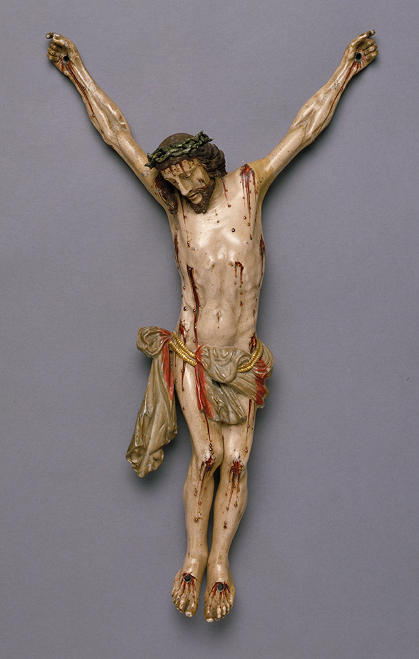 The  Crucified Christ, about 1650, Spain or the Philippines, painted lead.  Museum no. A.68-1926, © Victoria and Albert Museum, London