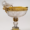 Cup, carved by Georg Schwanhardt, 1640, Germany (Nuremberg), rock crystal with gilded silver mounts. Museum no. 49-1867, © Victoria and Albert Museum, London