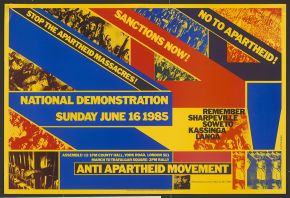 'No to Apartheid!', poster, London, 1985, V&A: E.190-2011, © Victoria and Albert Museum, London.