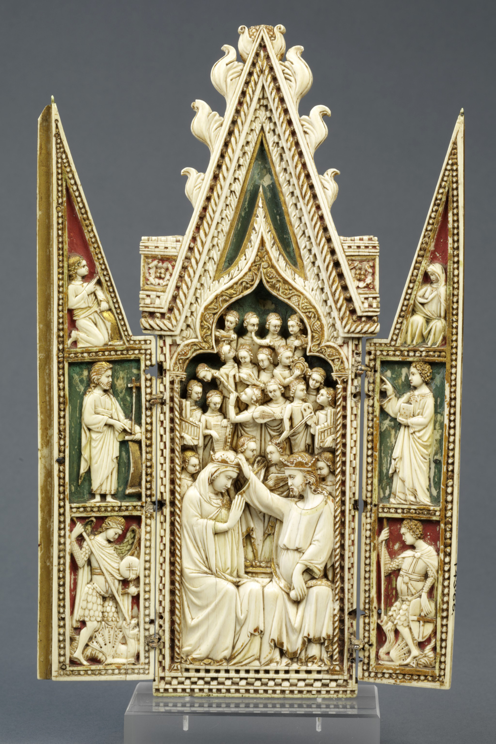 The Coronation Of The Virgin Triptych, Unknown Maker, 1360 1370. Museum No.  143 1866