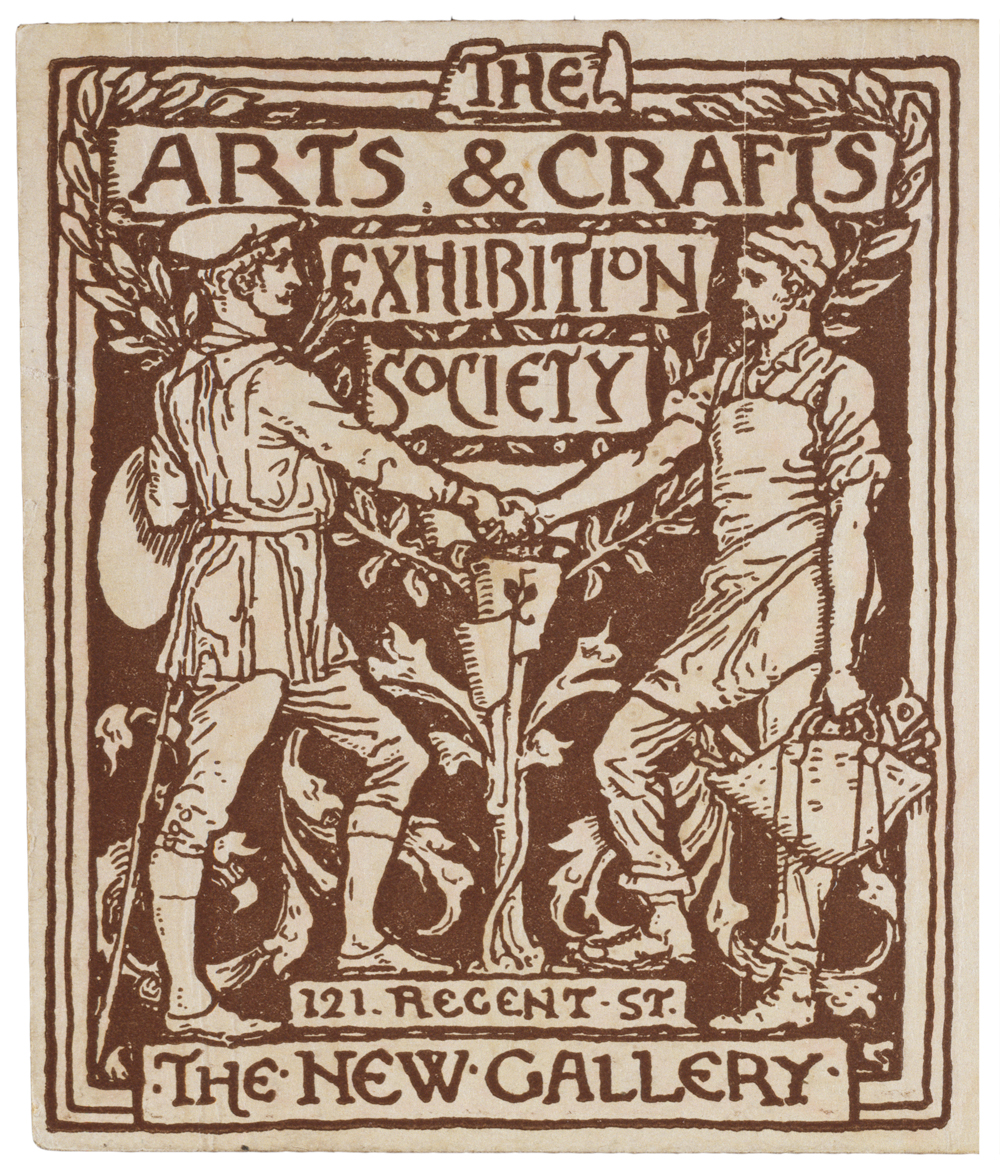 Arts and crafts movement design - Detail From A Season Ticket For The Arts Crafts Exhibition Society By Walter Crane England Uk 1890 Museum No E 4164 1915 Victoria Albert Museum