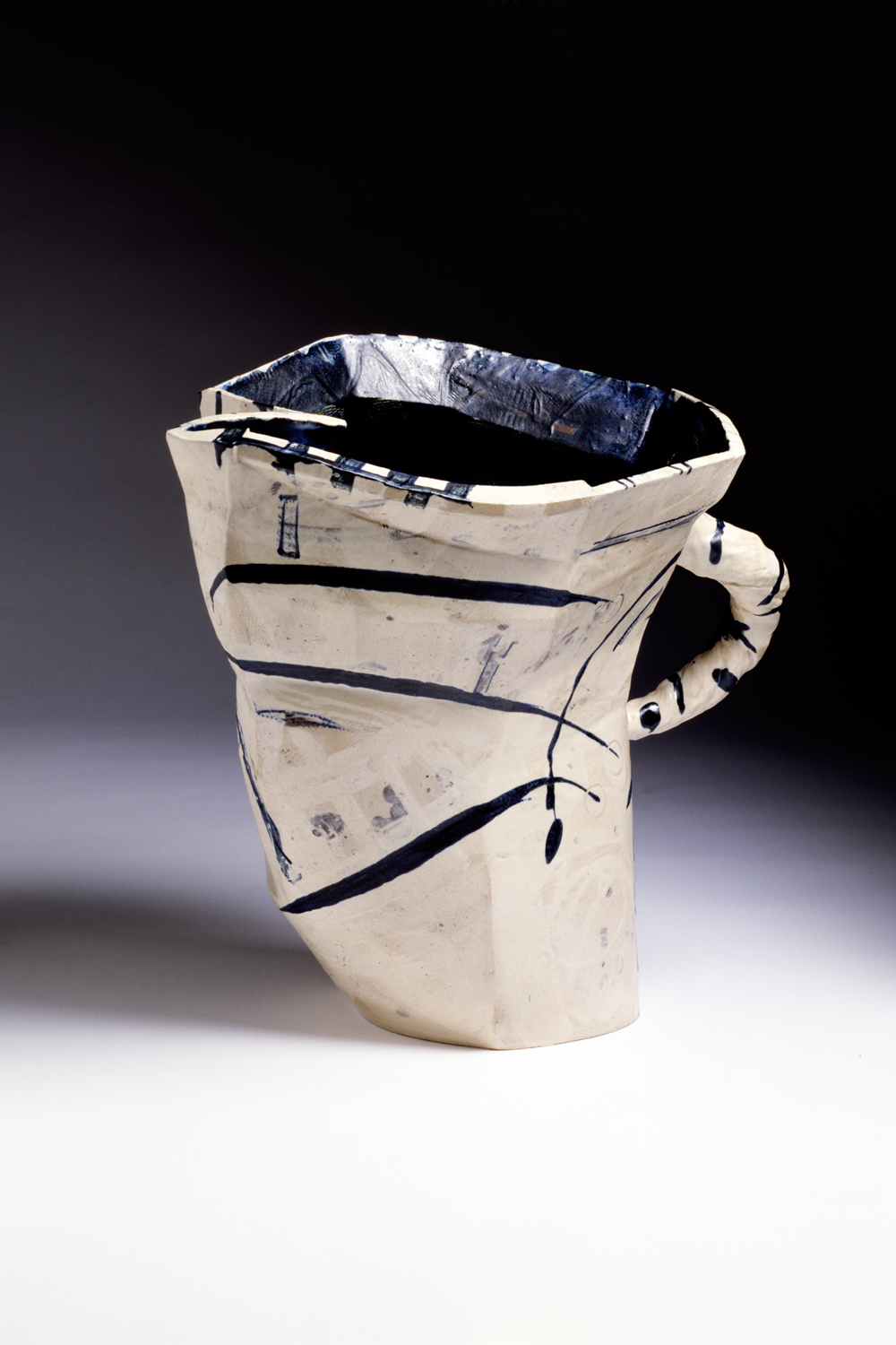Ceramic Points Of View Big White Jug By Alison Britton