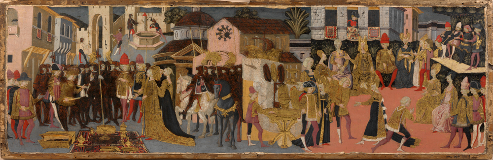 The Continence Of Scipio Poplarwood Cone Panel Painted In Tempera From