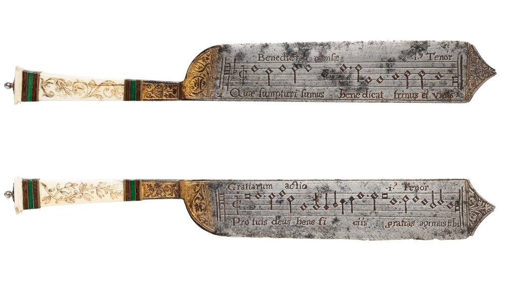 Cuchillo musical, Italia hacia 1550. Victoria and Albert Museum.