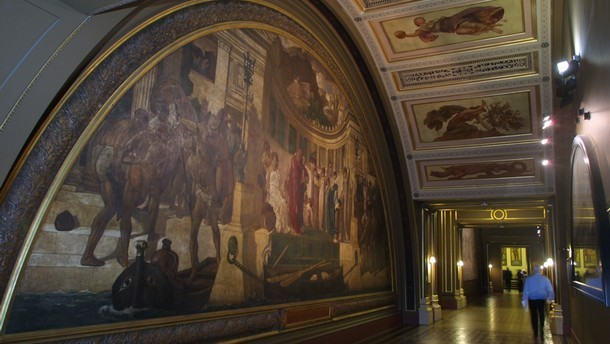 Lord Leighton's Frescoes, room 107