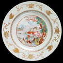Plate, unknown maker, about 1745-50. Museum no. C.78-1963