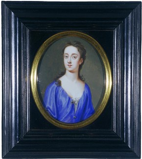 Miniature, portrait of Sarah Churchill, Duchess of Marlborough, Bernard Lens III the younger, 1720. Museum no. 627-1882, © Victoria and Albert Museum, London
