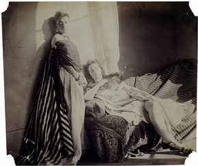 Isabella Grace and Clementina Maude, photography by Lady Clementina Hawarden, about 1863-4. Museum no. PH.373-1947