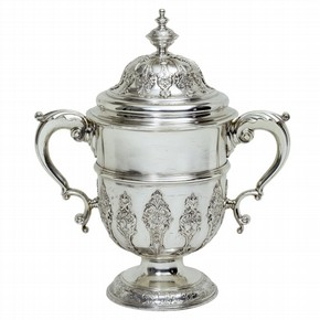 Cup and Cover, marked by Paul de Lamerie, 1736-7. Museum no. 819-1890