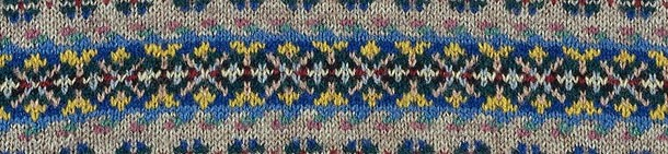 Detail from man's Fair Isle jumper, unknown maker. Museum no. T.363-1984