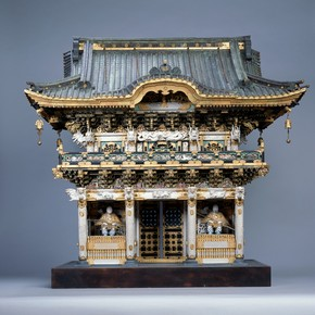 Model of Yomei-mon gate at Nikko, Japan, 1875-1900. Museum no. W.5-1918