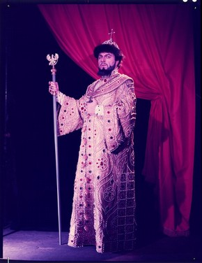 Boris Christoff as Boris Godunov in Mussorgsky's opera Boris Godunov, Sadler's Wells Theatre, London, 1958