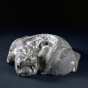 Crouching tiger, China, 2nd - 3rd century. Museum no. FE.153-1975