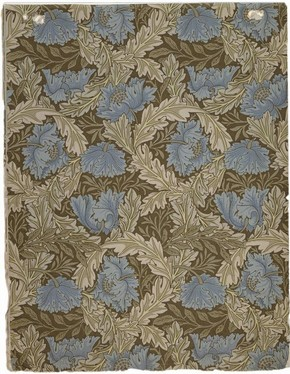 Sample wallpaper - Wreath design by William Morris, 1876. Museum no. E.501-1919 (click image for larger version)