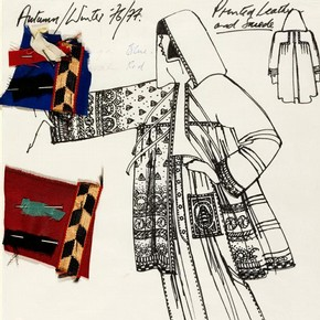 3) Bill Gibb (1943-88), fashion design, London, 1976. Museum no. E.128-1978.
