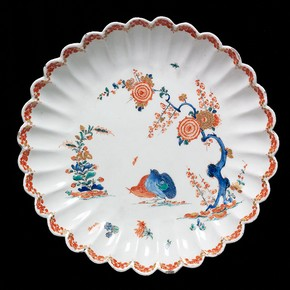 Plate with partridge design, Bow porcelain factory, London, about 1755. Museum no. C.1005-1924