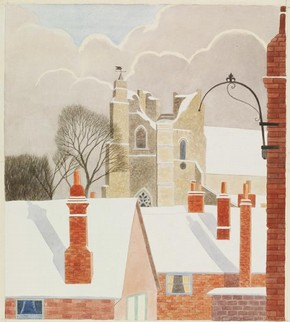'St Bartholomew's Church from the South-West, Orford, Suffolk' by Jack L Airy, about 1940, Museum no. E.2105-1949