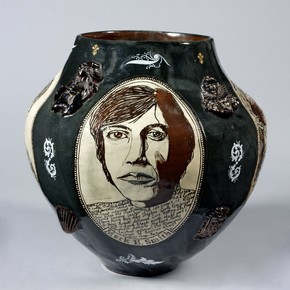 'My Heroes' vase, Grayson Perry, London, England, 1994. Museum no. C.10-2009