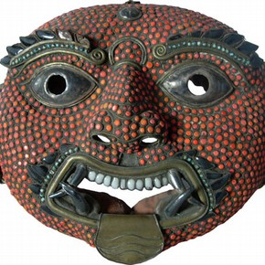Dance Mask depicting Bhairava, 19th century. Museum no. IS.28-2009