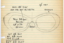 Sketch for the 1968 frame &#39;Countess&#39;, Museum no. T.244:I-1990