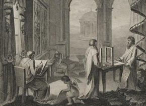 Frontispiece to Thomas Sheraton, 'The Cabinet-maker and Upholsterer's Drawing-book', 1793. Museum no. RC.N.16