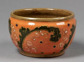 Figure 7 - Bowl, Ernest Chaplet, probably decorated by A. L. and E.-A. Dammouse, about 1885. Museum no. C.308-1983