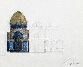 The Arab Hall at Leighton House, George Aitchinson, 1877. © RIBA Architecture Library Drawings Collection