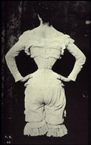 'The Wasp Waist', photograph, 1890s